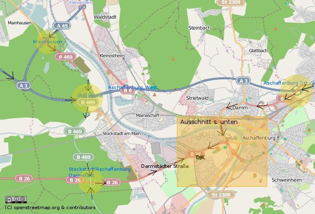 aschaffenburg stadtplan